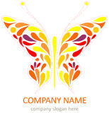 Butterfly - logotype Stock Photo