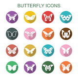 Butterfly long shadow icons Stock Photos