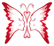 Butterfly of love Stock Photo