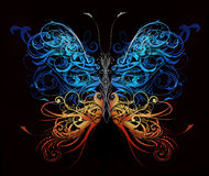 Butterfly made of flourish shapes. Butterfly made of flourish abstract shapes royalty free illustration