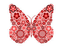Butterfly made from many various flowers Stock Image