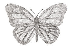 Butterfly made with pattern of dots. Royalty Free Stock Photos