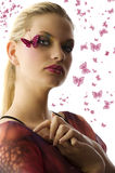 The butterfly makeup Stock Photos