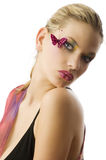 The butterfly makeup Stock Image