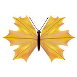 A butterfly with a maple leaf Stock Photo