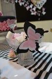 Butterfly marshmallows. Bridal shower decor ideas Stock Photo