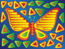 Butterfly Mola Design Stock Photo