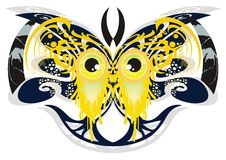 Butterfly monster eyes Royalty Free Stock Photo