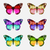 Butterfly  multicolor logo Stock Photography