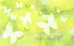 Butterfly on natural bokeh background. Stock Photo