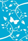 Butterfly in nature in blue and white Royalty Free Stock Images