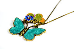 Butterfly Necklace. So beautiful butterfly Necklace for fashion girls Stock Photo