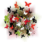 Butterfly nest. A illustration of card and t-shirt design Stock Photos
