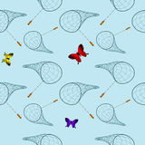 Butterfly net pattern Stock Image
