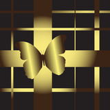 Butterfly On A Gift Stock Images