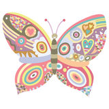 Butterfly Ornament. Intricate butterfly design with pastel colors Stock Image