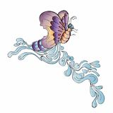 Butterfly ornament with blank space Stock Image