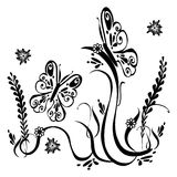 Butterfly Ornamental Art 16 stock illustration
