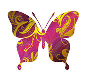 Butterfly ornamental tattoo Stock Photo