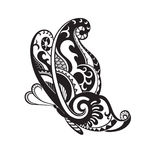 Butterfly with ornaments in the style of the Maori Royalty Free Stock Images