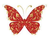 Butterfly, ornate for your design Royalty Free Stock Photos
