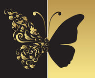 Butterfly, ornate for your design Royalty Free Stock Image