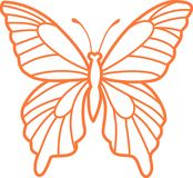 BUTTERFLY OUTLINE Royalty Free Stock Photos