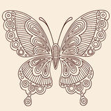Butterfly Outline Doodles. Hand-Drawn Butterfly Outline Doodles Design Element Royalty Free Stock Photo