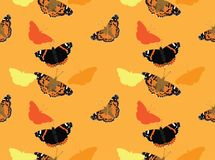 Butterfly Painted Lady Background Seamless Wallpaper vector illustration