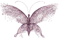 Butterfly. Painting of butterfly symbol airy lightness Royalty Free Stock Image
