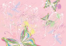 Butterfly paints Royalty Free Stock Images