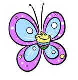 Butterfly parody cartoon illustration Stock Photos