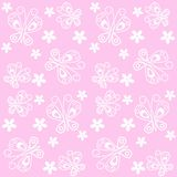 Butterfly pattern. Seamless butterfly pattern with pink background Stock Photos