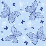 Butterfly pattern. Illustration seamless background with of openwork butterflies Stock Images