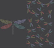 Butterfly. Pattern  background  illustration   colour Royalty Free Stock Photos
