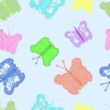 Butterfly. With a pattern on a colorful background Royalty Free Stock Image