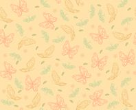 Butterfly pattern. Pattern with colorful butterflies and flowers Stock Photos