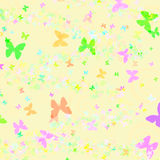 Butterfly pattern gift paper Royalty Free Stock Photo