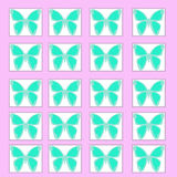 Butterfly pattern illustration Royalty Free Stock Photo