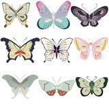Butterfly pattern stock illustration