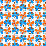Butterfly pattern. Invert color seamless pattern with abstract butterfly shapes, illustration and vector art Stock Images