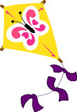 Butterfly Pattern Kite Royalty Free Stock Photos