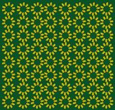 Butterfly pattern. Nice yellow butterfly pattern on green background Royalty Free Stock Image