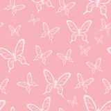 Butterfly pattern. Romantic vector seamless pattern with butterflies Stock Photography
