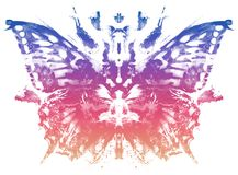 Butterfly pattern Rorschach Test style. Butterfly pattern in Rorschach Test style vector illustration