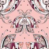 Butterfly pattern4. Butterfly, seamless pattern, vector illustration Stock Photography