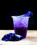 Butterfly pea drink. After adding acid Royalty Free Stock Image