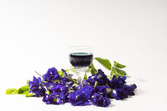 Butterfly pea and herb drink Stock Photo