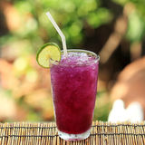 Butterfly pea juice with Lime for drink Royalty Free Stock Photo