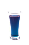 Butterfly pea Herbal water. The thai herbal water boiled from butterfly pea Royalty Free Stock Photos